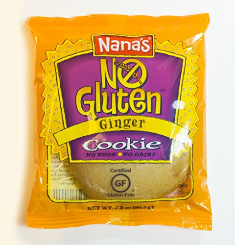 Nana's No Gluten Ginger Cookies, 3.2-Ounce Packages (Pack of -