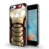 iPhone 6s Case, Unique iPhone 6 Case, MOSNOVO Superhero Hard Shield Design Pattern Cell Phone Chrome Case Cover for iPhone 6 4.7 Inch - Gunmetal