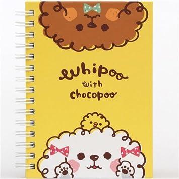 Kawaii amarilla Caniche Cuaderno de anillas de animales de Japón: Amazon.es: Oficina y papelería