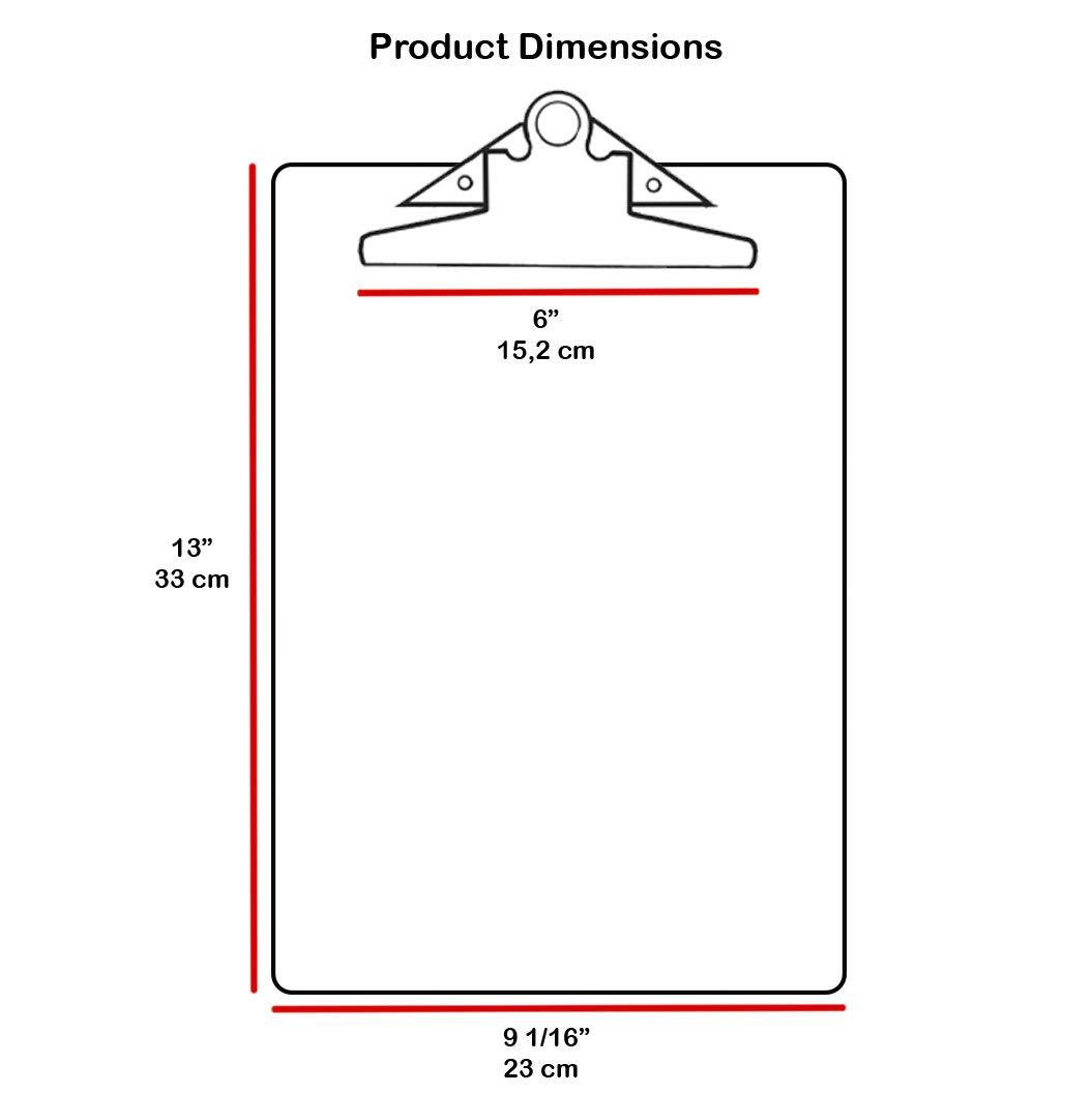 Jumbo Clip Hardboard Acrimet Clipboard Letter Size A4 6 Pack 33 cm x 23 cm