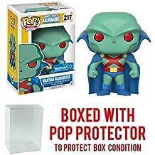 Funko POP! #217 Justice League Unlimited Martian Manhunter Walmart Exclusive! Collectible Vinyl Figure (Bundled with Pop Protector)