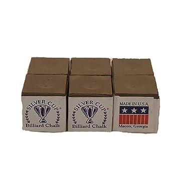Silver Cue Wine Billiard Pool Cue Chalk Free Shipping Box of 12