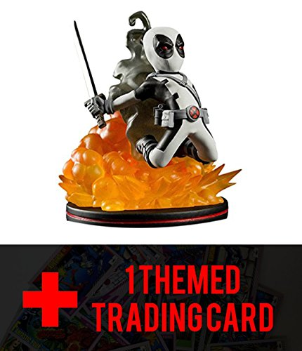 Quantum Mechanix Deadpool X-Force Variant Q-Figure with one FREE Themed Trading Card Bundle