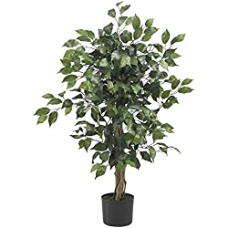 Chapman Greens [3 Foot] Artificial Silk Indoor Decorative Faux Ficus Tree Floor Plant for Home and Office Decor