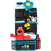 Amazon Lightning Deal 94% claimed: Backseat Car Organizer by Hello Little Monsters - Kids Toy Car Storage - Travel Accessories for Baby - Child Car Seat Protector - Perfect for Baby Shower Gift - Must Have Interior Car Accessories