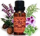 Happy : A Pleasant aroma blend of Geranium, Lavender, Cypress, Cedarwood and Peppermint Pure Essential Oil 100% 100 ml (3 1/3 Fl Oz)-Health