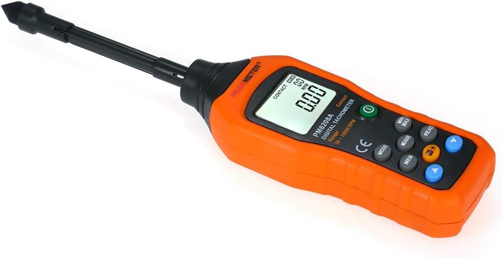 KKmoon Digitaler Drehzahlmesser Handkontaktmotor LCD Tachometer Kontakttyp Breitmessbereich 50 ~ 19999 U//min