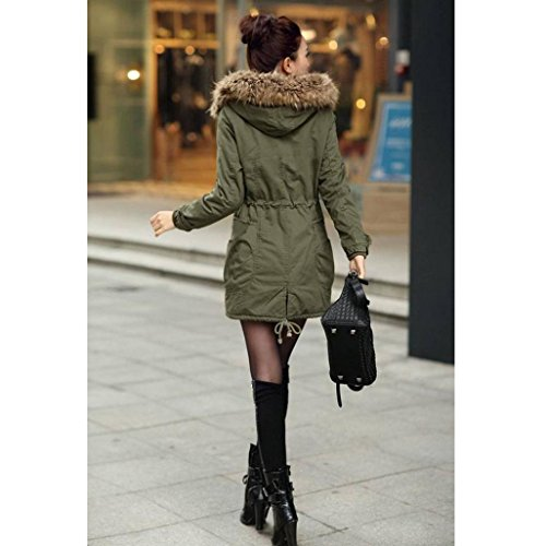 Hooded Army Winter Coat Outwear Women Coat Ladies Size Jacket Long Xinantime Green USvFdq