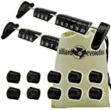 Set of 2 Foosball Scoring Units and 10 Rod End Caps for Foosball Table & Billiard Evolution Drawstring Bag