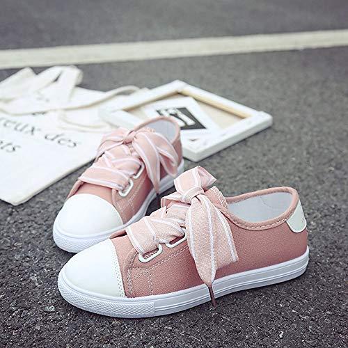 Comfort Blanco de Heel Sneakers Mujer Toe Zapatos PU Black Poliuretano Rosa Negro ZHZNVX Summer Flat Round cYF7w1q7A