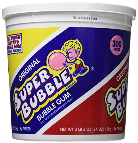 - Super Bubble Gum, Original, 54 Ounce Tub
