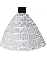 Gurnall Women's Wedding Ruffles Gown Bridal Crinoline Petticoat Hoop Skirt Underskirt