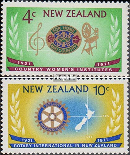 1971 Rotary - New Zealand 550-551 (Complete Issue) 1971 Rotary (Stamps for Collectors) Rotary/Lions/Freemason/Pathfinder