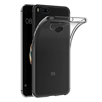 AICEK Funda Xiaomi Mi 5X / Xiaomi Mi A1, Transparente Silicona Fundas para Xiaomi 5X Carcasa Silicona Funda Case (5.5