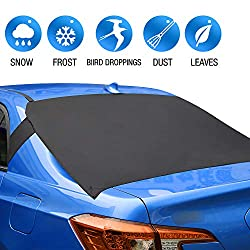"""ALTITACO Rear Windscreen Snow Cover, Car Rear Windshield Snow Ice Cover Protector with Flaps and 4 Magnets, Sun Shade Protector Exterior Shield Guard Fits Most Cars, Trucks, SUV and Vans with 57.1"""" * 35.4"""" Features: Fits for most vehicles. One size f..."""