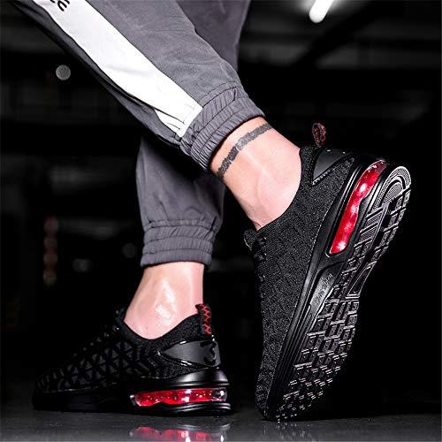 Pied Respirant shmr6099 Hommes Confort Semelle Air Casual De Chaussures Course Femmes Cushion Black Athltiques Baskets 6vAwxEfq