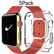 Apple Watch Case 38mm CaseHigh Shop Hard Soft TPU Transparent Full Body Screen Protector 0.3mm Thin Case Apple Watch Cover For Apple Watch / Watch Sport / Watch 2015(38mm) Crystal Clear (38mm 5Pack)
