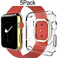 For Apple Watch Case 38mm CaseHQHard Soft TPU Transparent Full Body Screen Protector 0.3mm Thin...