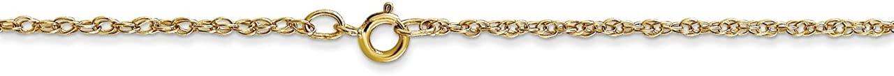 Lex /& Lu 14k Yellow Gold 1.15mm Cable Chain Necklace Rope Chain Necklace