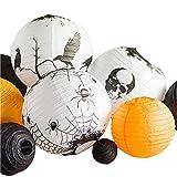 PaperLanternStore.com Multi-Color 11-pc Halloween Party Pack Paper Lanterns Combo Set