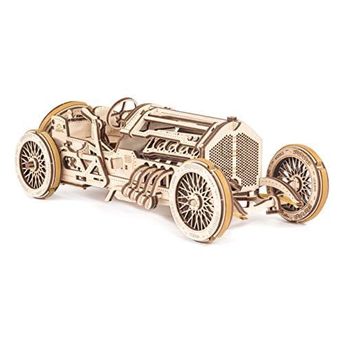 chollos oferta descuentos barato UGEARS Coche Grand Prix U 9 Kit de Montaje Coche de carreras 3D Rompecabezas de Madera DIY