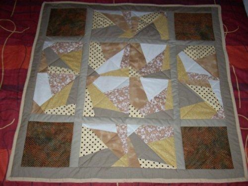 Cream Patchwork quilt, Quilted Blanket,
