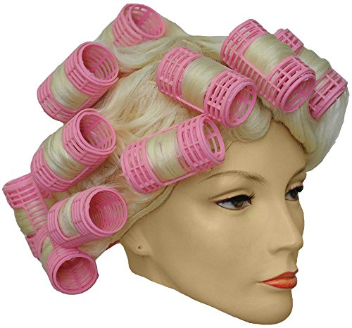 Morris Costumes 1960's Curler Wig (Wig With Curlers)