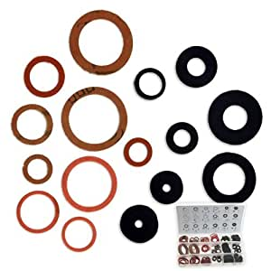 141pc faucet plumbing washer assortment 21 sizes 3. Black Bedroom Furniture Sets. Home Design Ideas