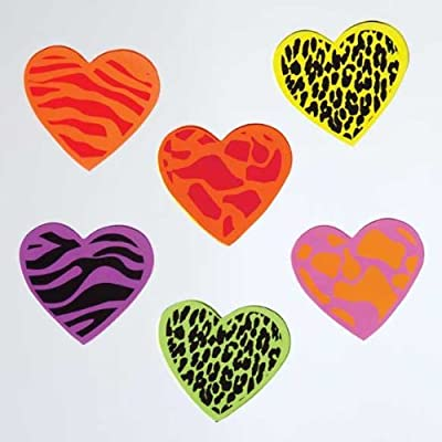 Design Ideas GelGems Valentine's Day Themed Gel Window Clings (Jungle Hearts, Large Bag): Home & Kitchen