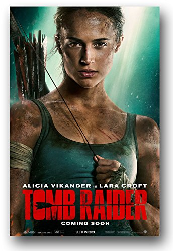 Tomb Raider Poster - 2018 Movie Promo 11 x 17 Alicia vikande