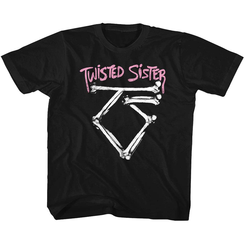 Twisted Sister Heavy Metal Band Bad To The Bone Logo T Shirt Tee