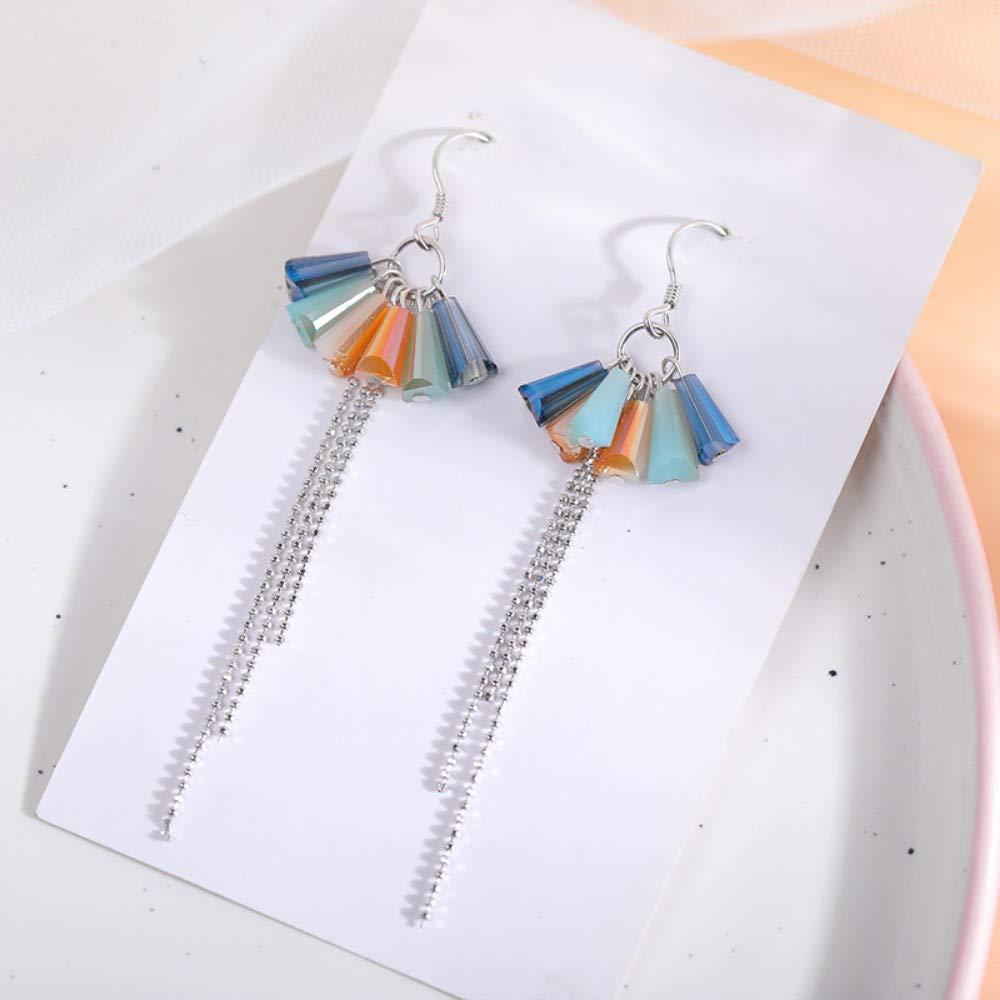 LSDAMW Earrings For Women Drop Dangle Girls Personalized Flower Earrings Sterling Silver Temperament Simple Earrings