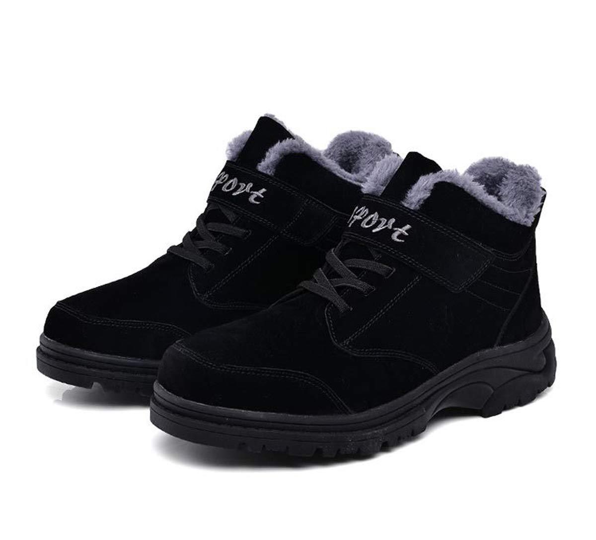 DANDANJIE Herren Schuhe Winter Warm Wandern Trekking Schuhe Hohe Turnschuhe Anti-Slip Lace-up Klettverschluss Lässige Outdoor-Schuhe
