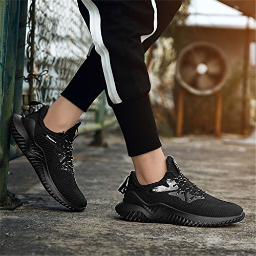 Fashion Casual Breathable Sneakers A Lightweight Gym Men's UBFEN Fitness Running Athletic Sports Trainers Black Walking Shoes 8wz0qzaF