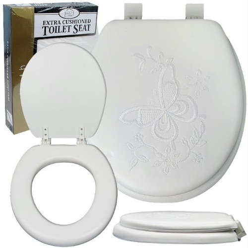 Soft Padded Toilet Seat - Embroidered (styles may vary)
