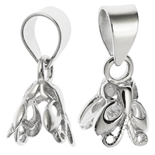 Silver Bail Butterfly Pendant Clasp Connector/Findings/Bright ()