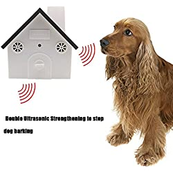 MATOP The Second Generation Outdoor Ultrasonic Bark Controller Anti-Bark Birdhouse Sonic Bark Deterrents Training Behavior Aids For Large Medium Small Dogs, Battery Operated (Coffee)