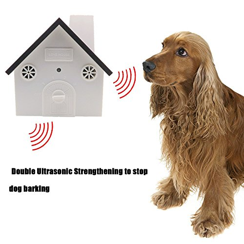 Bark Control Birdhouse - The Second Generation Outdoor Ultrasonic Bark Controller Anti-Bark Birdhouse Sonic Bark Deterrents Training Behavior Aids For Large Medium Small Dogs, Battery Operated(Coffee)