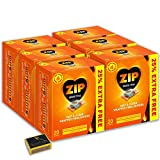 6 X Packs of 20 Zip Fast & Clean Wrapped Firelighters for Open Fires, BBQs, Stoves, Chimineas & Tigerbox Safety Matches