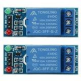 UEB Relay Module, 2 pcs/5pcs 1 Channel DC 5V Relay Switch Module for Arduino Raspberry Pi ARM AVR (5V - 2 Pcs)