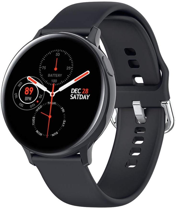 NUNGBE Pulsera Inteligente, Reloj Inteligente, Monitor de frecuencia cardíaca de ECG para Hombres y Mujeres, Reloj Inteligente Deportivo Resistente al Agua IP68, Pulsera