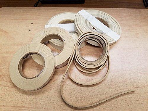 Solid Premium-Grade Gum Rubber Strip - .250
