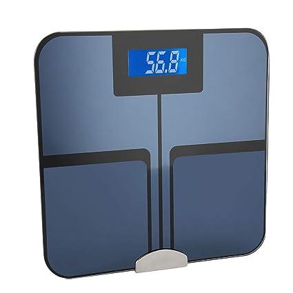 Báscula de grasa corporal bluetooth para Control del Peso, la grasa corporal, el agua