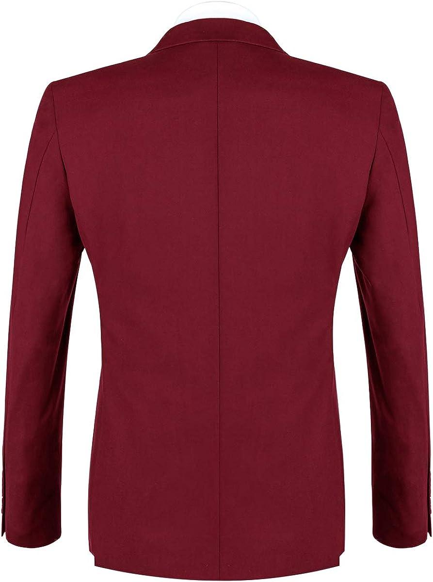 FTIMILD Mens Business Suits 3-Piece Suits Slim Fit Blazer Jacket Trousers /& Tux Vest