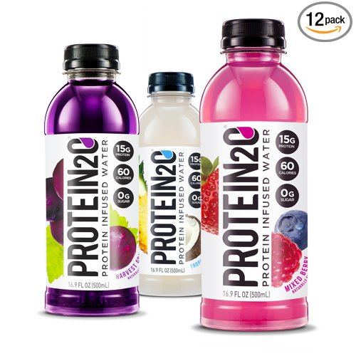 Protein2o Low Calorie Whey Protein Drink, Variety Pack, 16.9 oz (Pack of 12) (Best Protein Drinks For Bariatric Patients)