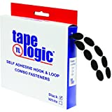 Tape Logic HLT182 Rubber Based Dot Roll Combo Pack, 3/4'' Diameter, Black