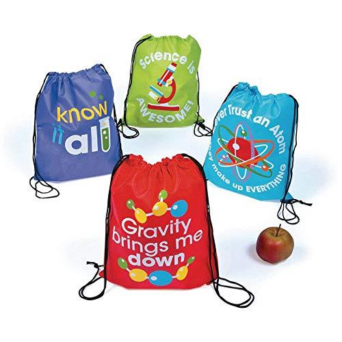 Fun Express Science Party Drawstring Backpacks - 12 -