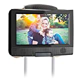 Hikig Car Headrest Mount Holder for 7 Inch to 11 Inch Swivel and Flip Style Portable DVD Players - Adjustable Angle and Rotate Screen - Black
