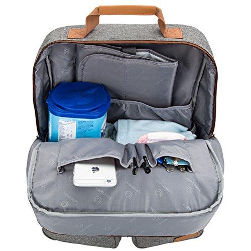 lekebaby cambiar pañales mochila unisex para mamá y papá se puede utilizar como Casual Daypack