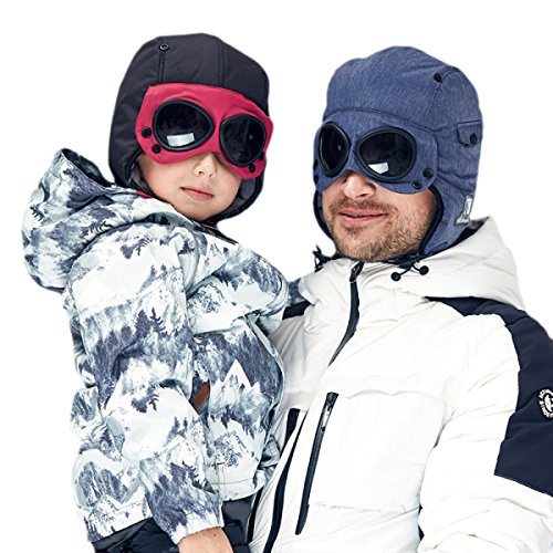 Sombreros Cálidos 4882ClipRoseRed Ruso Niños Invierno Lentes Y De De Bombardero De De De Cuero Lana Sombrero Hombre Gruesos Lindos Gorros Gorras Esquí De De rrgwqBU